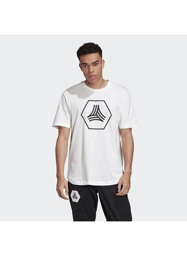 adidas Erkek Tan Logo Tişört FJ6340 Beyaz